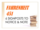 Fahrenheit 451 6 Signposts to Notice & Note