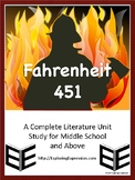 Fahrenheit 451 - A Complete Literature Unit Study for Midd