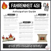 Fahrenheit 451 Anticipation Guide