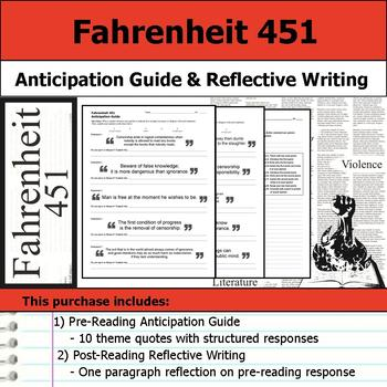 Fahrenheit 451 - Anticipation Guide and Reflection