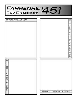 Fahrenheit 451 Background Note Page