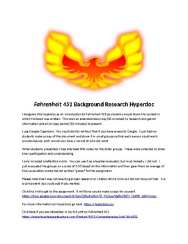 Fahrenheit 451 Background Research Project