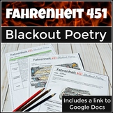 Fahrenheit 451  Blackout Poetry Activity with Close Reading Passage