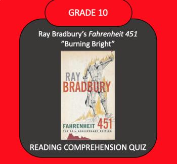 """Fahrenheit 451 """"Burning Bright"""" QUIZ"""