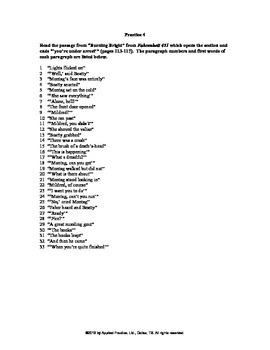 Fahrenheit 451 Chapter 3a English skills worksheet from Applied Practice