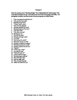 Fahrenheit 451 Chapter 3c English skills worksheet from Ap