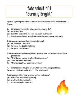Fahrenheit 451: Chapter Quizzes