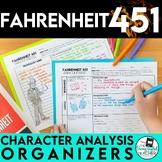 Fahrenheit 451 Character Analysis Graphic Organizers