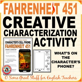 FAHRENHEIT 451 Character's Cell Phone Activity--Fun, Effective, Relevant