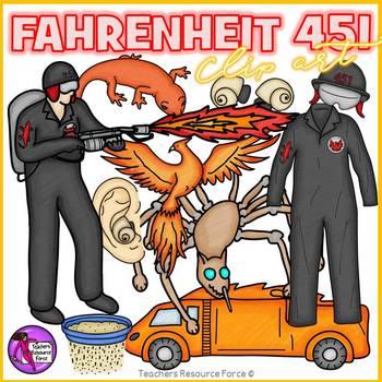 Fahrenheit 451 Clip Art clipart