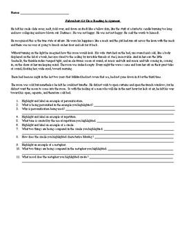 Fahrenheit 451 Close Reading Assignments