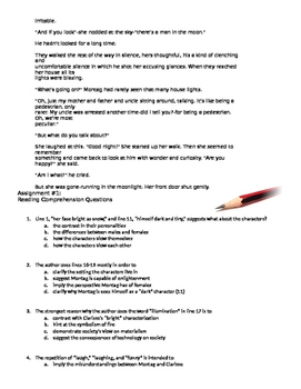 Fahrenheit 451: Common Core or NEW SAT Passage Reading (pgs 4-7)