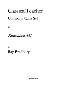 Fahrenheit 451 Complete Quiz Set