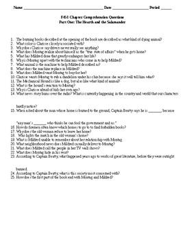 Fahrenheit 451 Comprehension Question