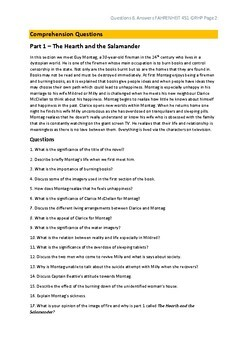 Fahrenheit 451 Comprehension Questions and Answers