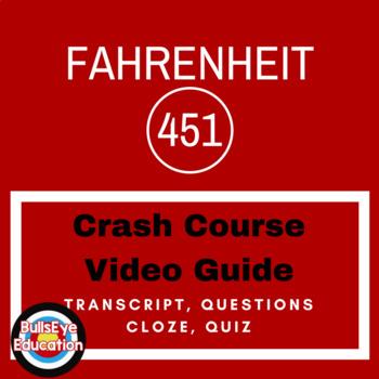 Crash Course Literature Video Guide:  Fahrenheit 451