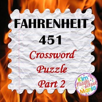 Fahrenheit 451 Crossword Part 2