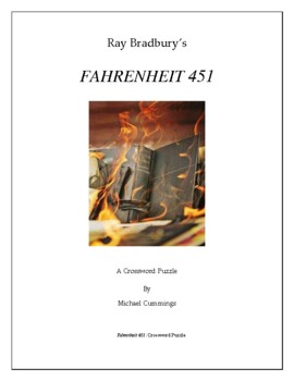fahrenheit 451 two crossword puzzles by michael cummings tpt. Black Bedroom Furniture Sets. Home Design Ideas