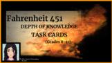 Fahrenheit 451: Depth of Knowledge (DOK) Task Cards