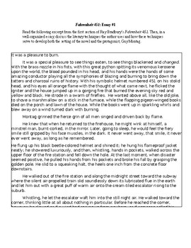 Health Insurance Essay Fahrenheit  Essay Thesis Statement For A Persuasive Essay also Romeo And Juliet English Essay Fahrenheit  Essay By Rebecca Fontaine  Teachers Pay Teachers Business Essay Writing Service