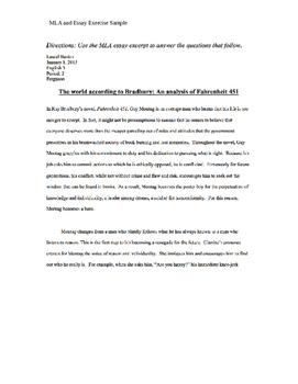 Fahrenheit 451 Exam Pack
