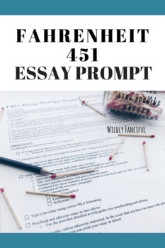 Fahrenheit 451: Expository Essay Prompt Sheets and Brainstorming Sheets (2)