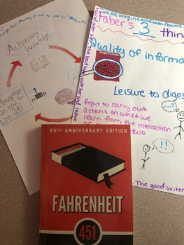 Fahrenheit 451 - Faber's Three Things analysis and poster!