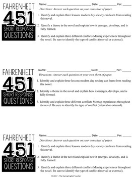 Fahrenheit 451 Test and Crossword Puzzle Study Guide
