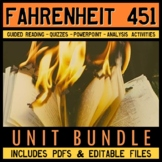Fahrenheit 451 Full Unit Plan Bundle