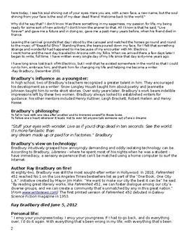 Fahrenheit 451- Independent Unit Study