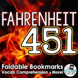 Fahrenheit 451 Interactive Bookmarks: Questions, Analysis, Vocabulary