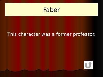 Fahrenheit 451 Jeopardy Game