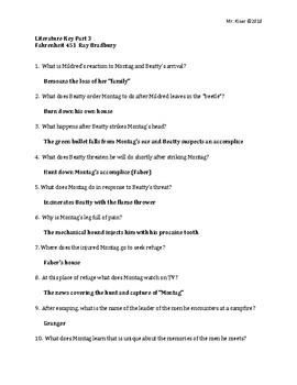 Fahrenheit 451 Key Part 3