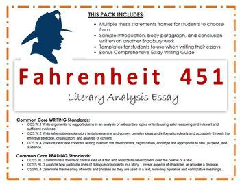 Fahrenheit Essay - Book Review & Analysis with Examples