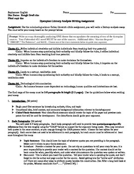 How To Make A Good Thesis Statement For An Essay Fahrenheit  Literary Analysis Essay Assignment Essay On Healthy Eating also Terrorism Essay In English Fahrenheit  Literary Analysis Essay Assignment By Jennifer Vierneisel Examples Of An Essay Paper
