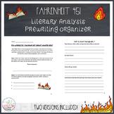 Fahrenheit 451 Literary Analysis Prewriting Organizer