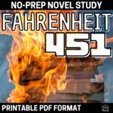 Fahrenheit 451 Literature Guide - Complete Lesson, Activity, Unit Plan