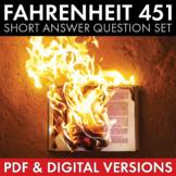 Fahrenheit 451, Short Answer Questions, Literary Analysis, Ray Bradbury, CCSS