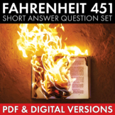 Fahrenheit 451 Question Set, Analysis, Ray Bradbury, PDF & Google Drive, CCSS