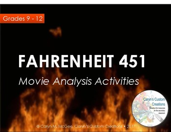 Fahrenheit 451 Movie and Book Analysis Activities