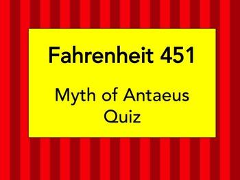 Fahrenheit 451 Myth of Antaeus