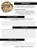 Fahrenheit 451 Notes & Thesis Statements based on themes