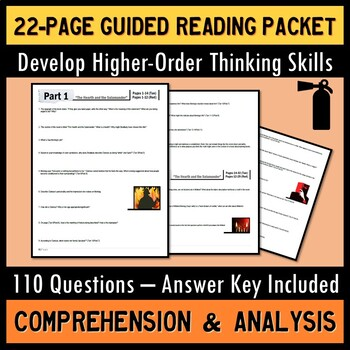 Fahrenheit 451 Full Unit Guided Reading Packet