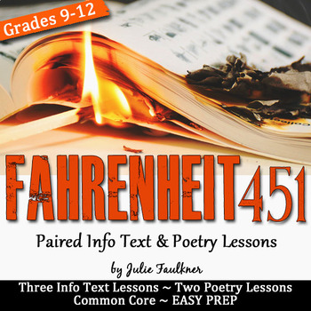 Fahrenheit 451 Paired Info Text and Poetry Lessons to Supp