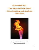 Fahrenheit 451 Part 2 Close Reading / Analysis Text-depend