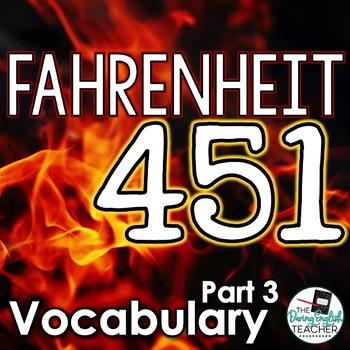 Fahrenheit 451 Part 3 Vocabulary Pack