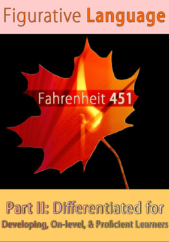 Fahrenheit 451 Part II: Figurative Language Differentiated for 3 Levels