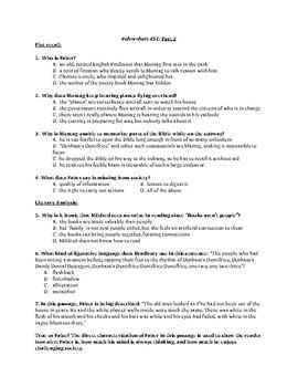 Fahrenheit 451 Part Two Quiz