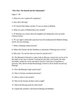 Fahrenheit 451 Parts 1-3 questions