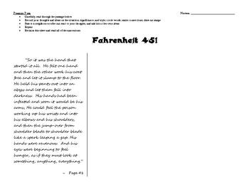 Fahrenheit 451 Passage Pass